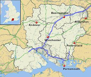 Hampshire Map