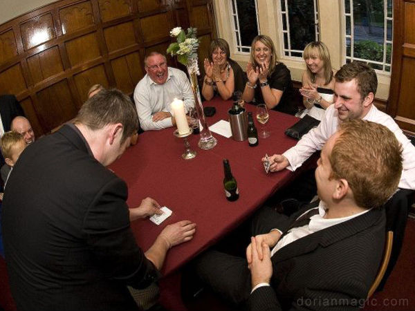 Magician Dorian at The Parkhouse in Cardiff.