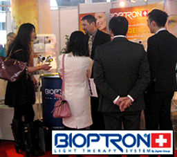 Trade Show Magician Dorian on the Bioptron Stand in Monte Carlo