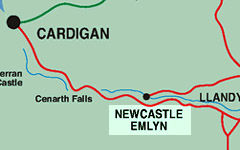 Newcastle Emlyn map