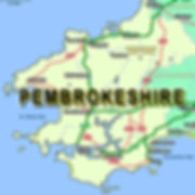 PEMBROKESHIRE map