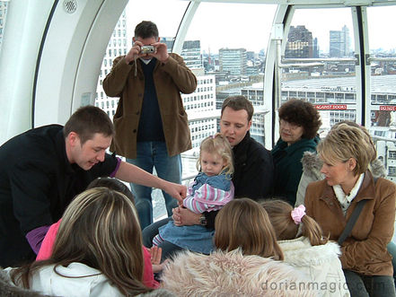 Dorian officially performing on-board the London Eye.