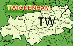 Twickenham map