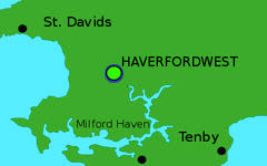HAVERFORDWEST map