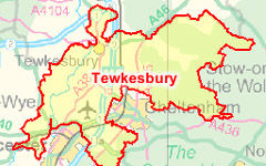 Tewkesbury map