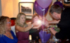 Magician Dorian entertaining at a 21st Birthday Party