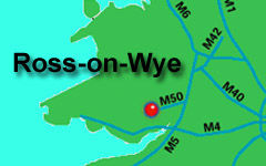 Ross-on-Wye map