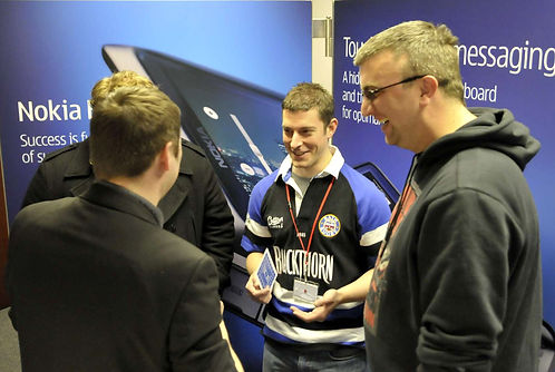 Magician Dorian on the NOKIA stand at an Exhibition