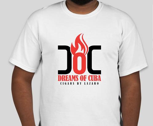 Dreams of Cuba Unisex Logo Shirt- WHITE