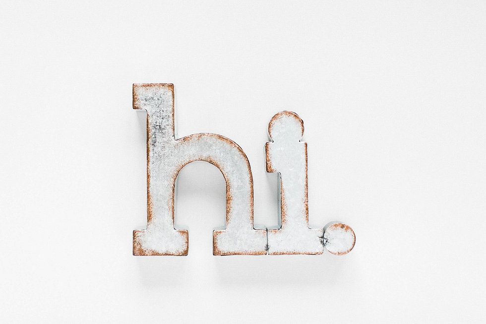 hi in big letters