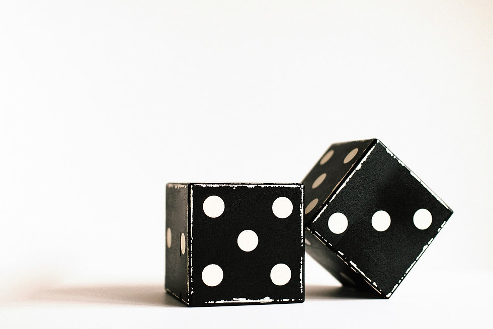 Black dice rolled to an 8