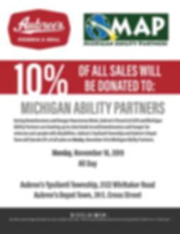 Fundraiser Flyer MI Ability Partners 201