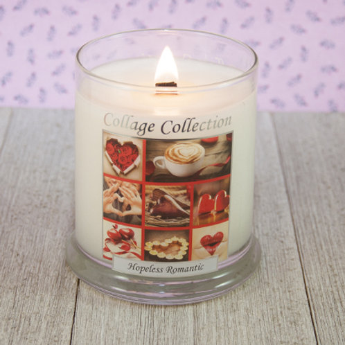Hopeless Romantic Collage Candle