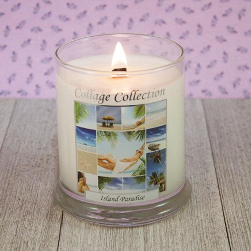 Island Paradise Collage Candle