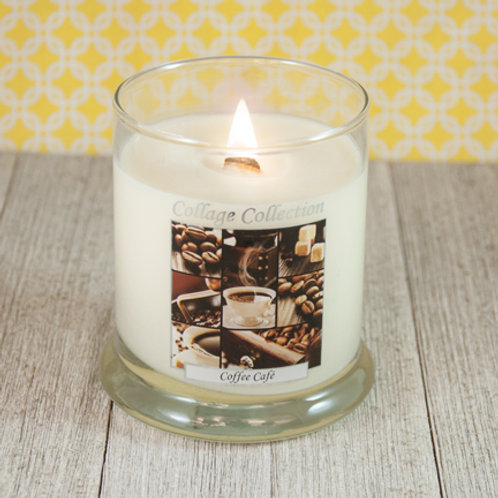 Coffee Caf'e Collage Candle