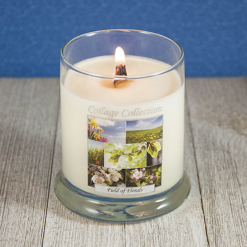 Field of Florals Collage Candle