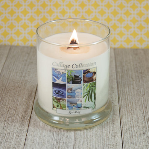 Spa Day Collage Candle