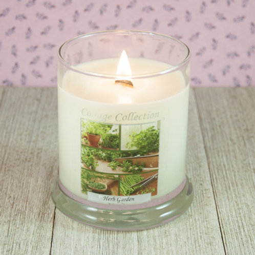 Herb Garden Collage Candle