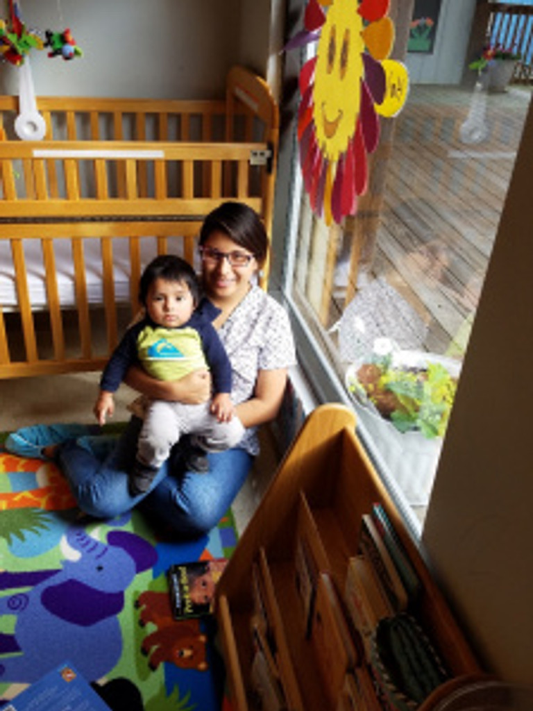 The infants & toddlers participated in age appropriate activities while they were getting to know their new teachers.