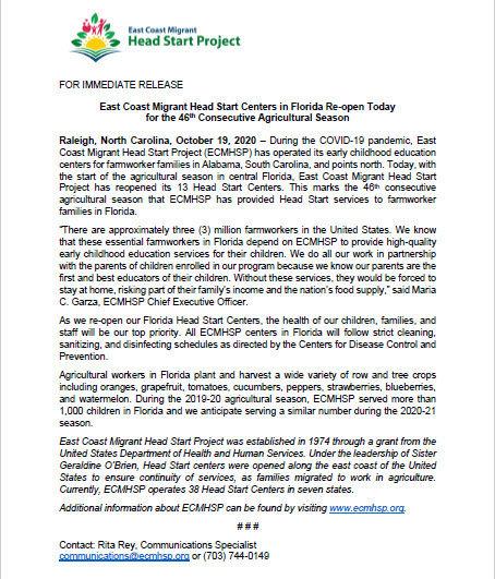 ECMHSP FL Reopening Press Release ENG.jp