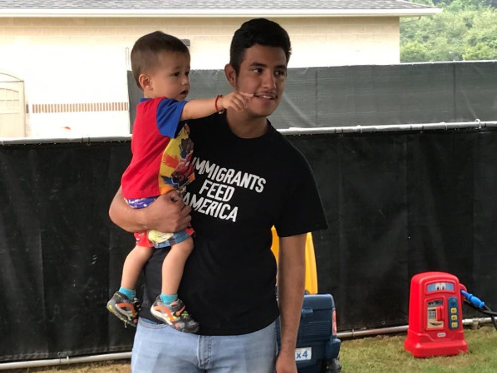 Juan and little boy