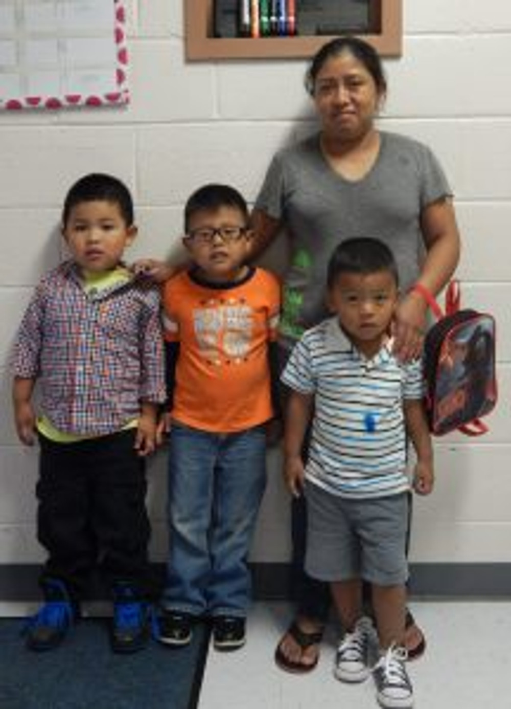 St. Helena's farmworker families drop off their children at the center.