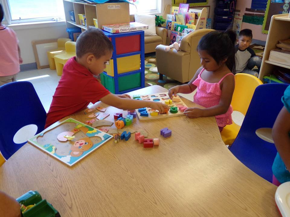 The sound of children's voices and laughter fill the classrooms on opening day.