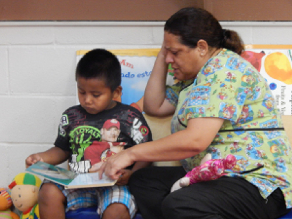 ECMHSP staff work with children to ensure they have a head start in their education.