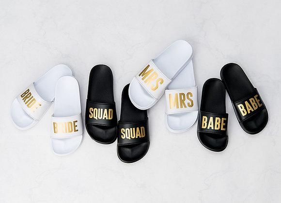 Bridal Party Slide Sandals