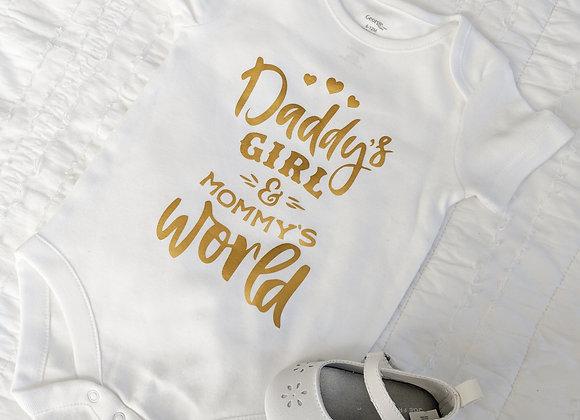 Daddy's Girl Mommy's World Onesie