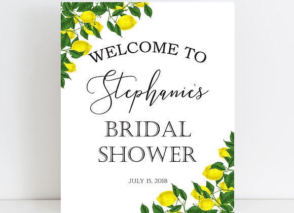 Lemon Themed Bridal Shower Sign