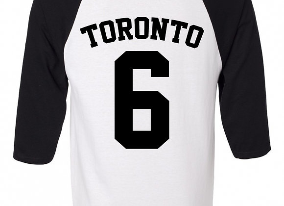 """TORONTO #6"" RAGLAN BASEBALL JERSEY"