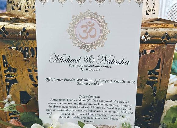Wedding Program Booklets