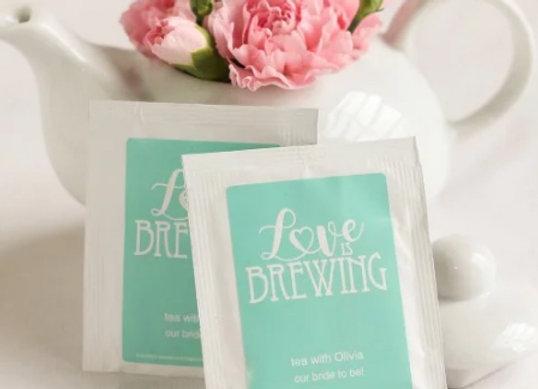 Personalized Tea Bag Favours