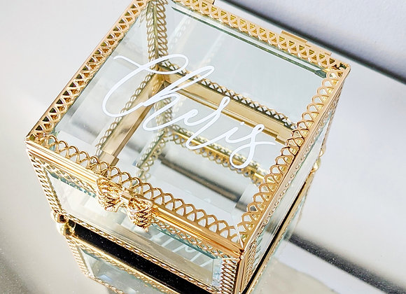 Gold Bow Jewellery Box