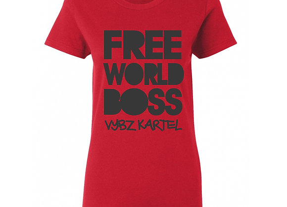 """FREE WORLD BOSS"" FITTED TEE"