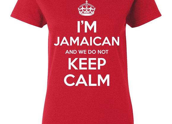 """KEEP CALM"" JAMAICAN (LADIES)"
