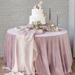 Pink Velvet Table Cover
