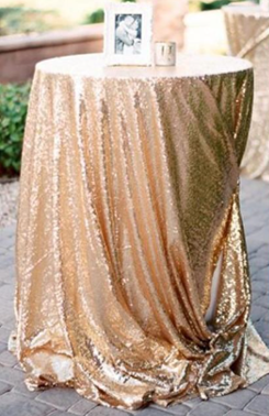 Gold Sequin Table Cover