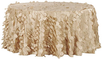 Petal Champagne Table Cover