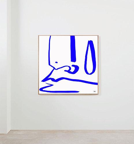 """LIMITED EDITION """"Detail portrait bleu"""" - 2021"""