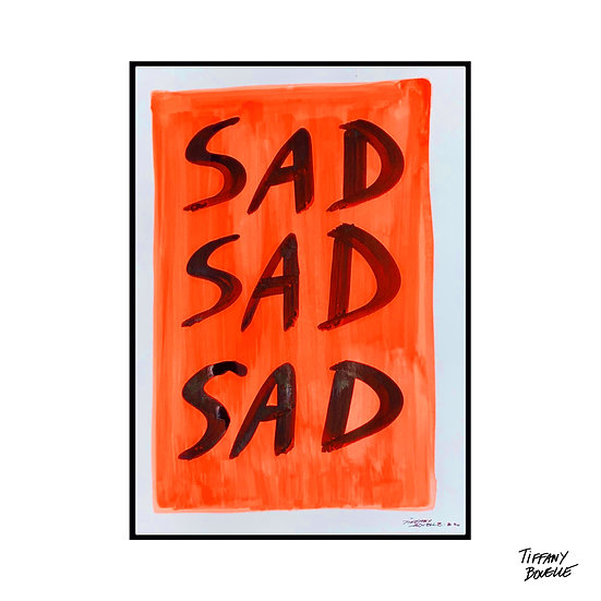 """""""EMO ARE SAD TOO"""" by Tiffany Bouelle, 2020"""