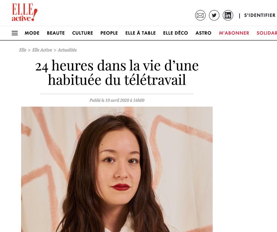 TIFFANY BOUELLE ELLE MAGASINE