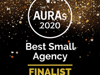 We've been nominated: Best Small Agency 2020