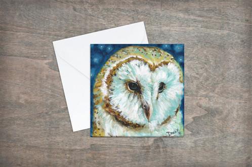 Owl greeting card m4hsunfo