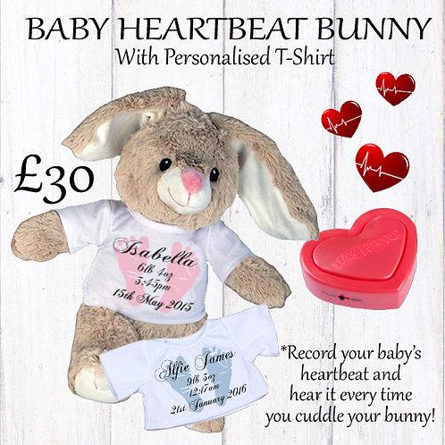 Baby Heartbeat Bunny Gift Set