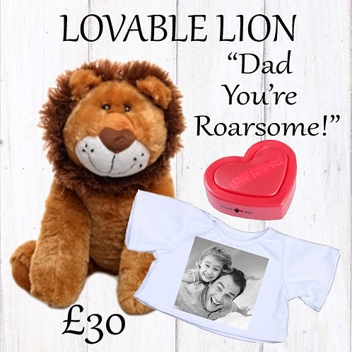 Lovable Lion with Recordable Voicebox Kit