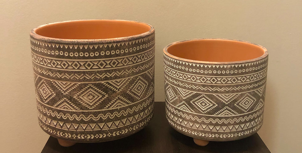 Tribal Print Pot