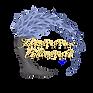 Logo Hanna Abend: Baum mit Blättern aus blauen Federn
