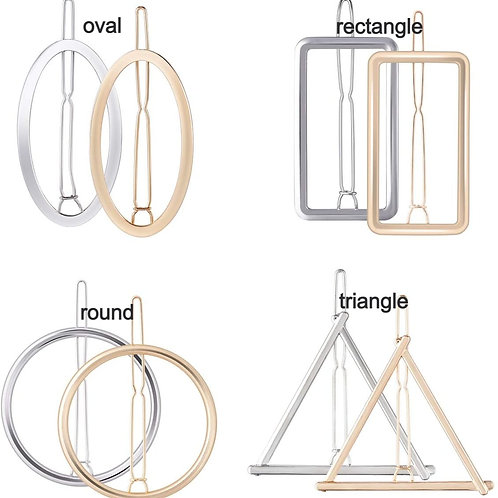 Metal Geometric Hair Clips